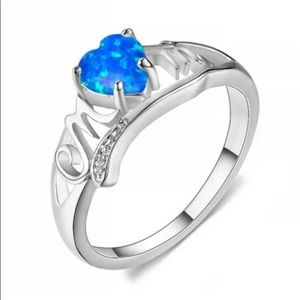 BRAND NEW 925SS BLUE OPAL MOM RING